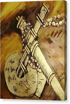 Cross Canvas Print by Shelley Bain