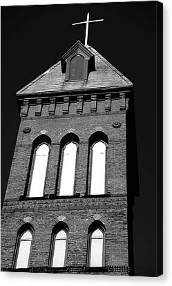 Cross Tower Canvas Print by Karol Livote