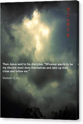 Crossed 16 24 Canvas Print