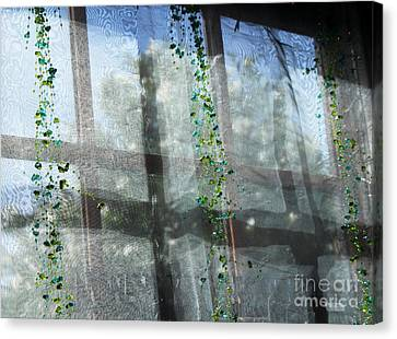 Crosses In The Window Canvas Print by Cheryl Del Toro