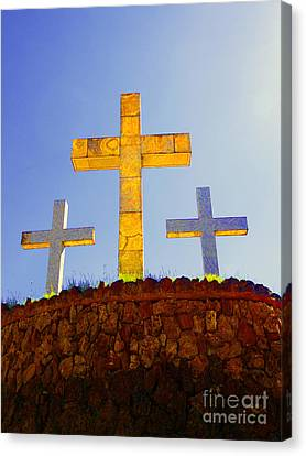 Crosses To Bear Canvas Print by Al Bourassa