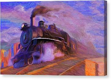 Crossing Rails Canvas Print by Caito Junqueira