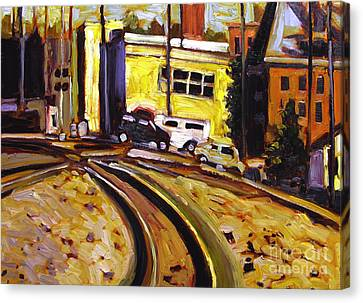 Artistic License Canvas Print - Crossing Rails by Charlie Spear