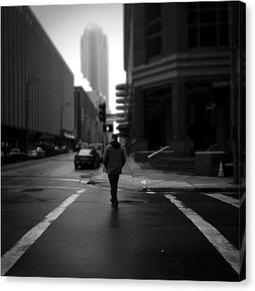 Crosswalk Canvas Print - Crossing Stranger by Henry Lohmeyer