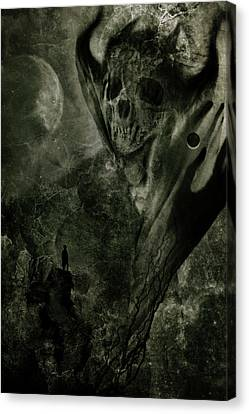 Crossing The Abyss Canvas Print by Cambion Art