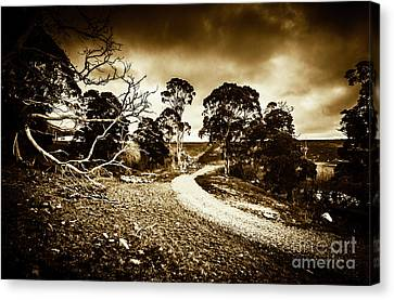 Crossing The Bleak Canvas Print