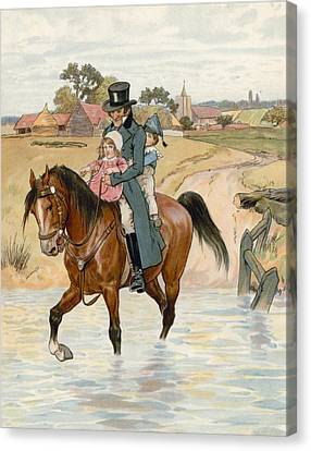Old Country Roads Canvas Print - Crossing The Brook by English School