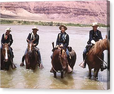 Crossing The Colorado River Canvas Print by Juls Adams