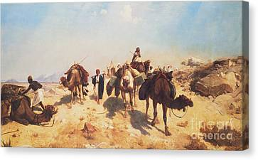 Crossing The Desert Canvas Print by Jean Leon Gerome