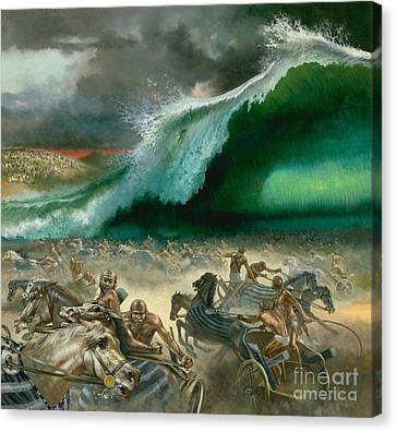 Crossing The Red Sea Canvas Print by Anonymous