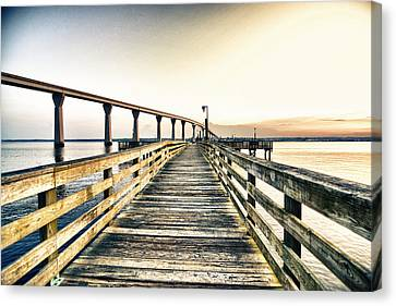 Crossing The River  Canvas Print by Kelly Reber