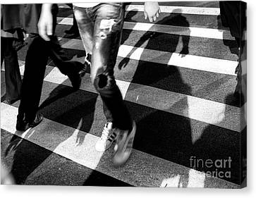 Canvas Print featuring the photograph Crossings Adidas by John Rizzuto