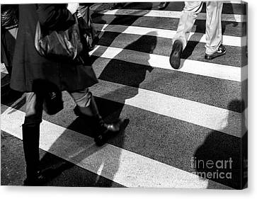 Canvas Print featuring the photograph Crossings Shadow First by John Rizzuto