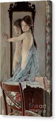 Crosslights Canvas Print by William Sergeant Kendall