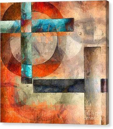 Crossroads Abstract Canvas Print by Edward Fielding