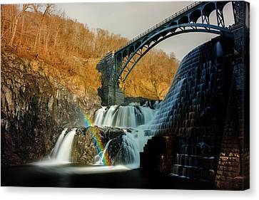 Croton Dam Rainbow Spray Canvas Print