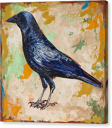Crow #1 Canvas Print by David Palmer