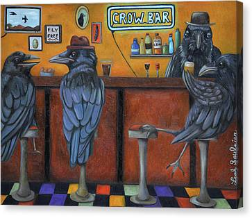 Canvas Print featuring the painting Crow Bar by Leah Saulnier The Painting Maniac