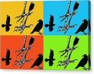 Crow Feet Four Canvas Print by Diana Ludwig