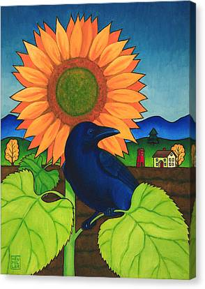 Crow In The Garden Canvas Print