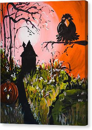 Crow In The Tree Canvas Print