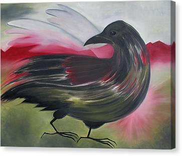 Crow Canvas Print by Karen MacKenzie