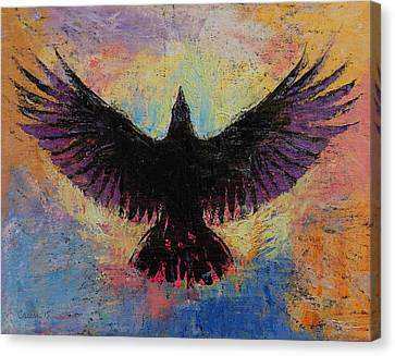 Crow Canvas Print by Michael Creese
