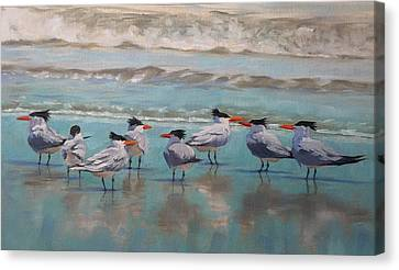 Canvas Print featuring the painting Crowd Control by Pam Talley