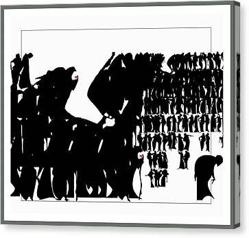 Crowd Canvas Print by Olena Kulyk