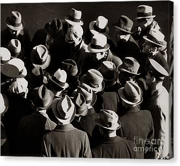 Crowded Street, C.1930-40s Canvas Print by H. Armstrong Roberts/ClassicStock