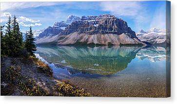 Canvas Print featuring the photograph Crowfoot Reflection by Chad Dutson
