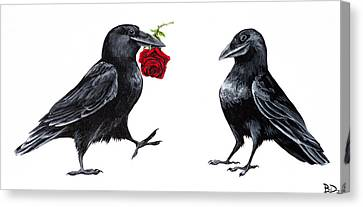 Crowmance Canvas Print