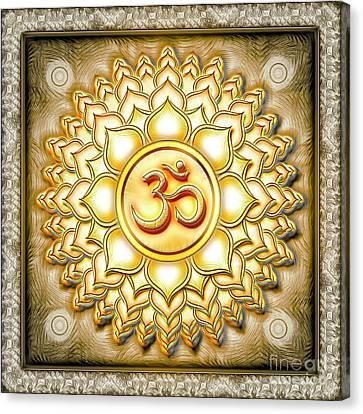 Chakra Therapy Canvas Print - Crown Chakra Golden - Series 1 by Dirk Czarnota