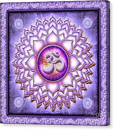 Chakra Therapy Canvas Print - Crown Chakra - Series 1 by Dirk Czarnota