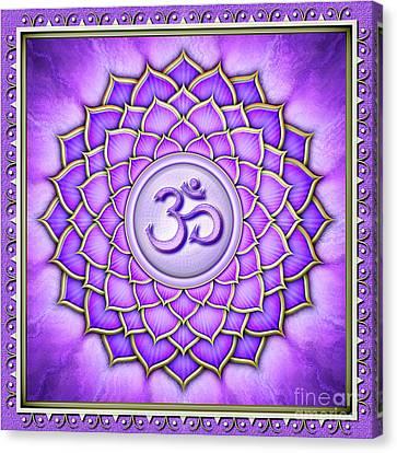 Chakra Therapy Canvas Print - Crown Chakra - Series 2 Artwork 2 by Dirk Czarnota