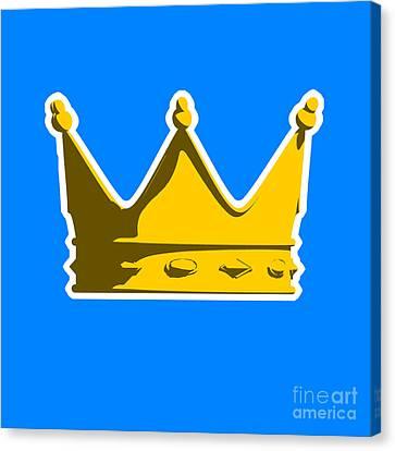 Crown Graphic Design Canvas Print