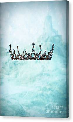 Snow Scene Canvas Print - Crown In Snow Scene by Amanda Elwell