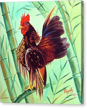 Crown Of The Serama Chicken Canvas Print by Ragunath Venkatraman