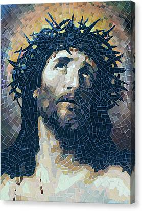 Crown Of Thorns 2 - Ceramic Mosaic Wall Art Canvas Print