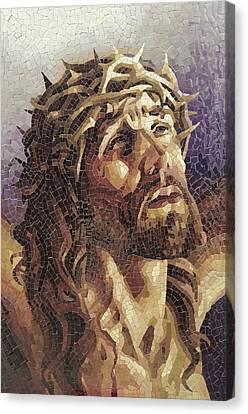 Crown Of Thorns 3 - Ceramic Mosaic Wall Art Canvas Print