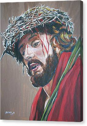 Canvas Print featuring the painting Crown Of Thorns by Bryan Bustard