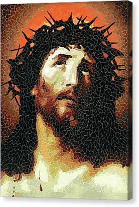 Crown Of Thorns - Ceramic Mosaic Wall Art Canvas Print
