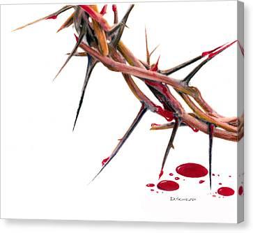 Crown Of Thorns Canvas Print by Dennis Schmelzer