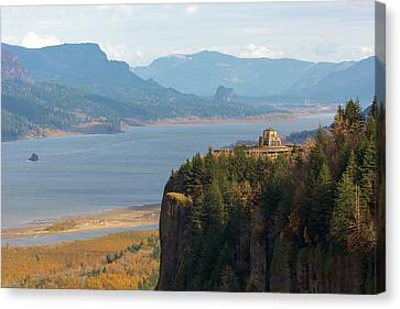Canvas Print - Crown Point On Columbia River Gorge by David Gn