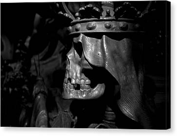 Crowned Death II Canvas Print