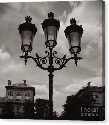 Crowned Luminaires In Paris Canvas Print by Carol Groenen