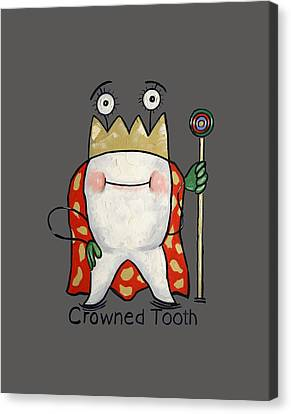Crowned Tooth T-shirt Anthony Falbo Canvas Print by Anthony Falbo