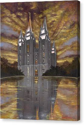 The Church Canvas Print - Crowned With Glory by Jeff Brimley