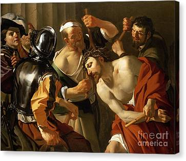1622 Canvas Print - Crowning With Thorns by Dirck van Baburen