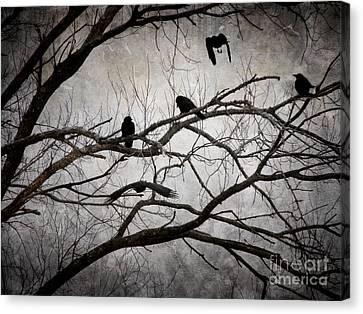 Crows At Midnight Canvas Print